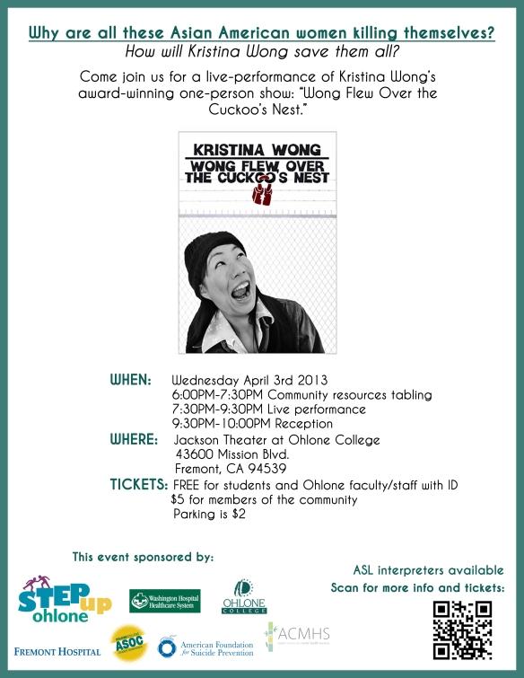 Kristina Wong flyer